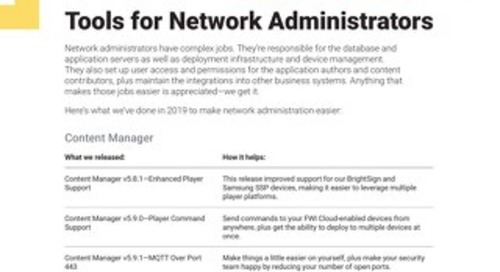Tools for Network Administrators