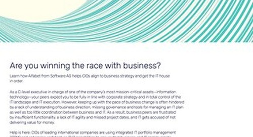 CIO: Are you winning the race with business?