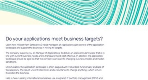 Manager of Applications: Do your applications meet business targets?