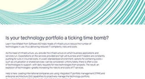 Head of Infrastructure: Is your technology portfolio a time bomb?