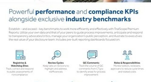 TrialScope Premium Reports and Benchmarks Flyer