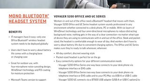 Voyager 5200 Office and UC Series Data Sheet
