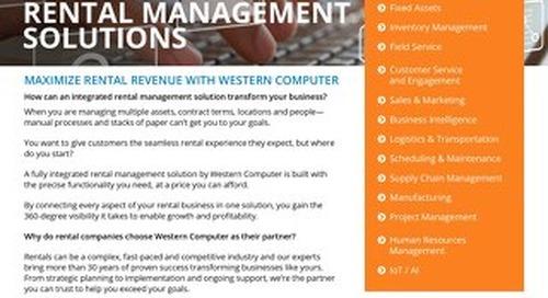 Rental Management Solution