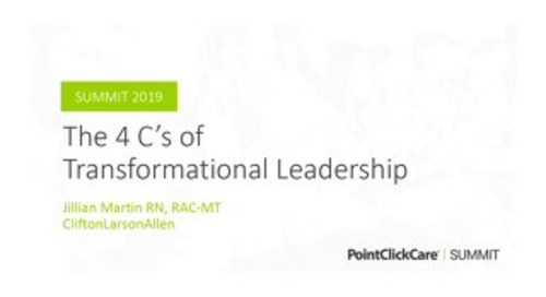 The 4 C's of Transformational Leadership