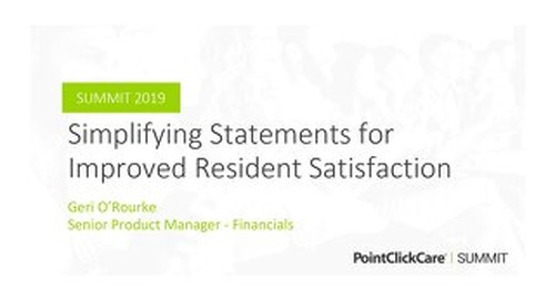 Simplifying Statements for Improved Resident Satisfaction