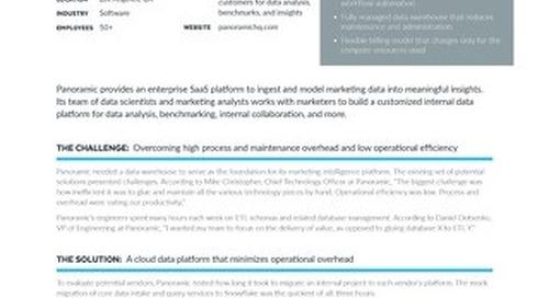 Panoramic: Using Snowflake as the Foundation of a Marketing Intelligence Platform