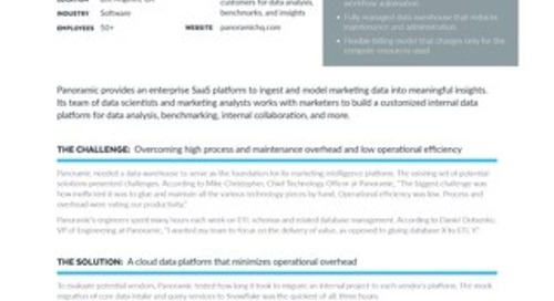 Panoramic: Using Snowflake as the Foundation of a Marketing Intelligence Platform