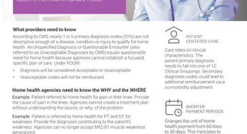 What Providers Need to Know About PDGM
