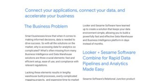 Sesame Software Solution Brief