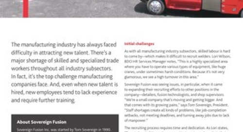 How BDO helped hire for manufacturing roles