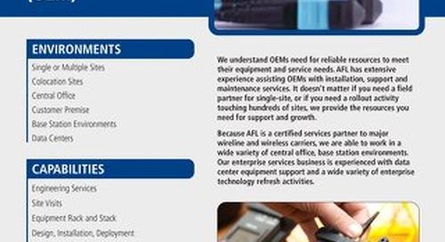 AFL Service Solutions - Original Equipment Manufacturers (OEM)