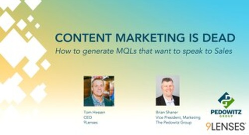 Webinar Slides: Content is Dead
