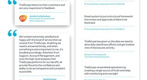 Customers Rave About TrialScope - Here's Why