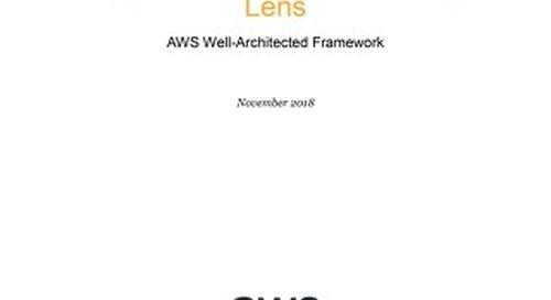 HPC Lens for the AWS Well-Architected Framework