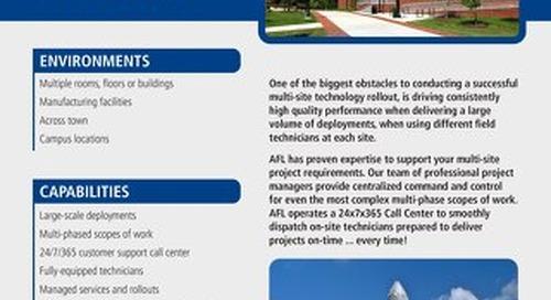 AFL Service Solutions - Multi-Site Rollouts