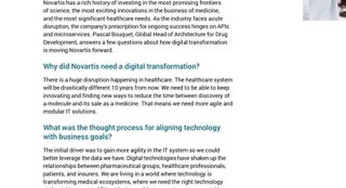 Customer Q&A: Novartis