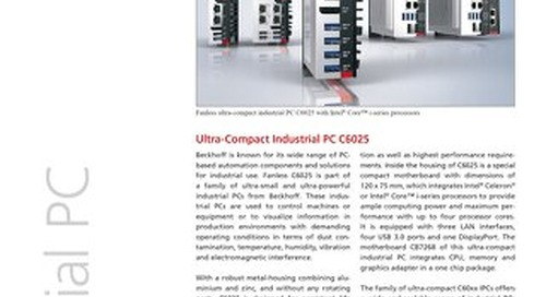 Beckhoff Automation: Ultra-Compact Industrial PC