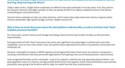 2nd Gen Intel® Xeon® Scalable Processor-Based Servers - FAQ