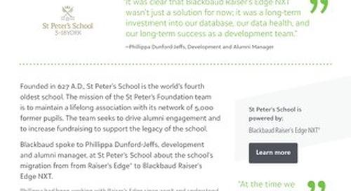 St Peter's School | Raiser's Edge NXT