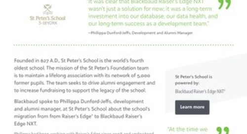 St Peter's School | Raiser's Edge NXT
