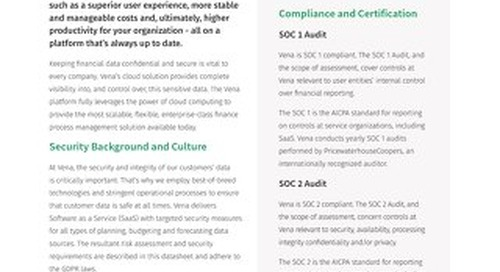 Datasheet - Vena Compliance & Security
