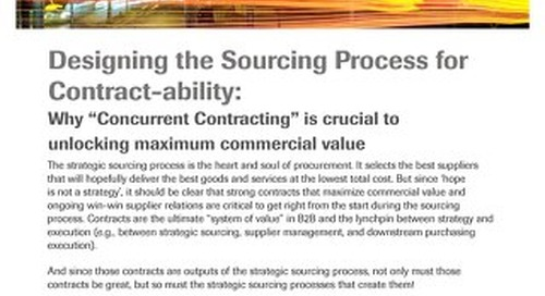 The Case for Contract-centric Sourcing | Spend Matters