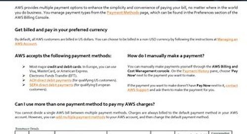 AWS EMEA Payment Information