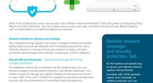 Cisco Umbrella and Cisco Meraki