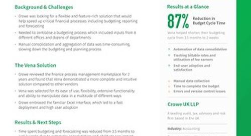 Vena Case Study: Crowe UK LLP