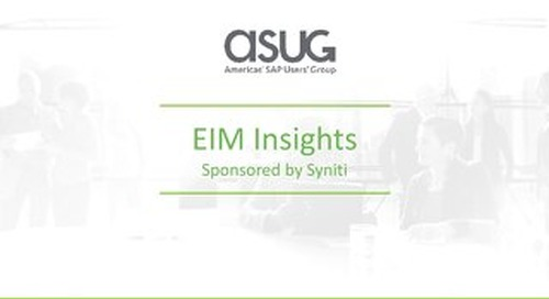 ASUG EIM Survey Results