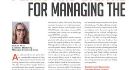 """Plans and Digital Solutions for Managing the Quality of Concrete"" Featured in Concrete inFocus Magazine"