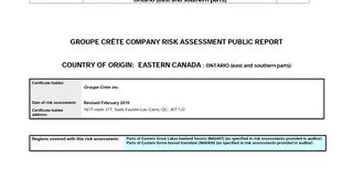 Groupe Crête Inc. - Ontario East feb 2019