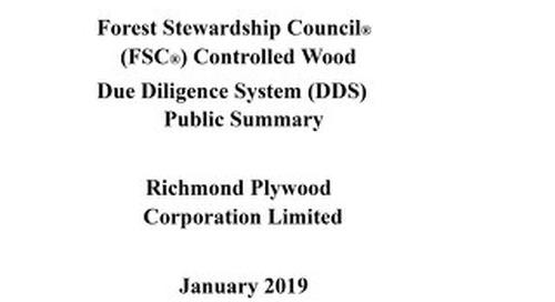 Richmond Plywood Corporation Limited - DDS Summary