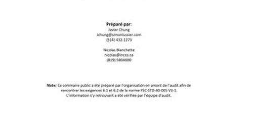 Simon Lussier Ltée - DDS Summary