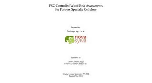 Fortress Specialty Cellulose Inc - Analyse du risque du bois contôlé