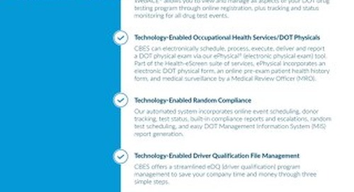 FMCSA Clearinghouse - DOT Services
