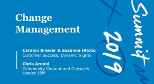 Change Management (Workshop Session)