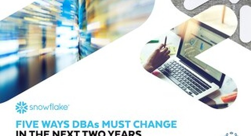Five Ways DBAs Must Change in the Next Two Years