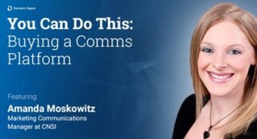 You Can Do This: Buying a Comms Platform (Pres Deck)