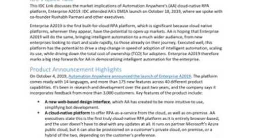 IDC Link AAI Cloud-Native RPA