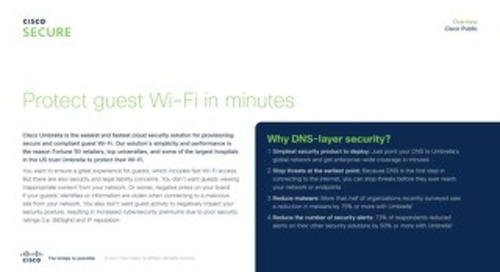 Cisco Umbrella Protect Your Wi-Fi