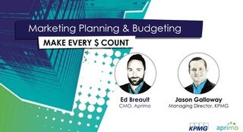 Aprimo & KPMG Webinar Slides: Marketing Planning and Budgeting