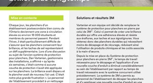 Solutions 3M : Le secret pour faire vos planchers briller plus longtemps