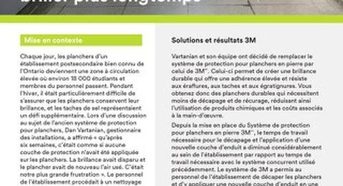 Solutions 3M : Le secret pour faire vos planchers briller plus longtemps