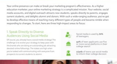 White Paper:  Your Online Marketing Plan for Higher Education