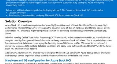Microsoft Azure Stack HCI for Lenovo ThinkAgile MX