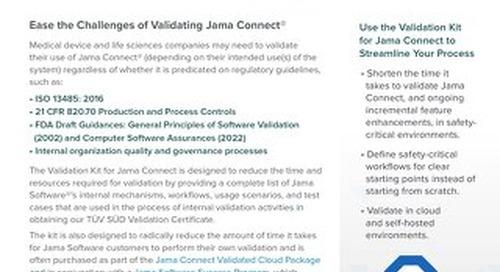 Jama Connect Validation Kit for Medical Device & Drug Development Teams