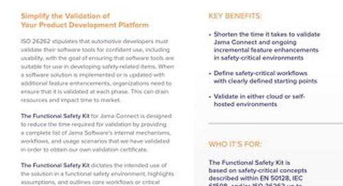 Jama Connect Validation Kit for Automotive Development Teams