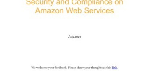 Architecting for HIPAA security and compliance on AWS
