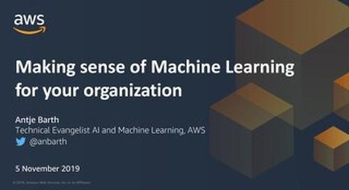 Making Sense Of Machine Learning